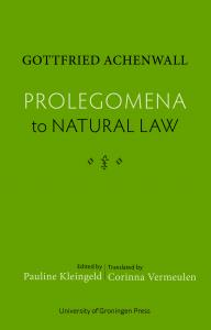Cover for Prolegomena to Natural Law